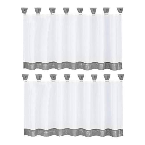 strogardine Kaffee Küchen Scheibengardine Fenster Vorhang aus Polyester ()
