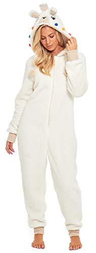 Kostüm Matching Hunde - Slumber Hut ® Damen Mädchen Fleece Onesie und Bademäntel Fleece Mops Hund Einhorn Lama Winter Tier Neuheit - Familien Matching Sets