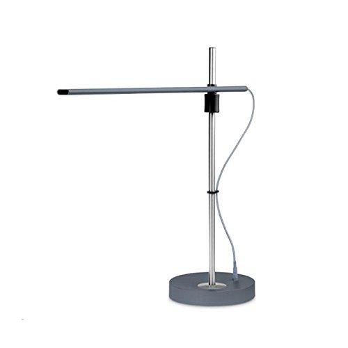 Eplze Ultra mince Lampe de bureau Dimmable 3 niveaux de luminosité Soin des yeux Lampe de table LED (Gris)