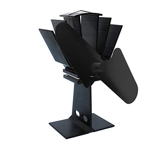 DuDuDu 2 klingen Wärme angetrieben Herd Lüfter Hause Stille Hitze angetrieben Fan Ultra leise Holzofen Ofen Kamin Lüfter Fan