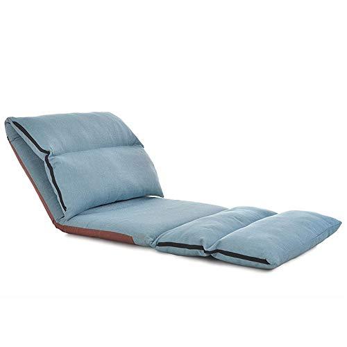 Perfekte Sofa Sleeper (Wuxingqing Klappstühle Sofa Stuhl Verlängern Falten Einstellbare Bodenliege Sleeper Futon Matratze Sitz Stuhl Lounge Schlafsofa (Farbe : Blau, Größe : 226 * 68 * 9cm))