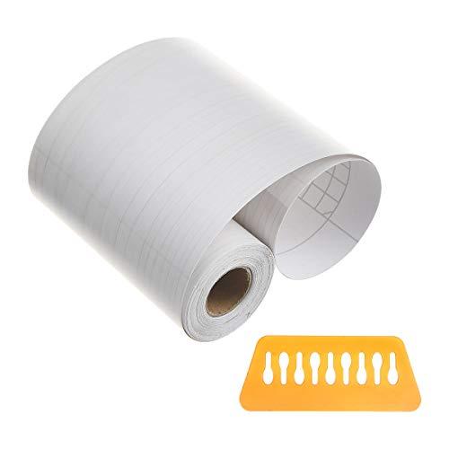 Uotyle Tapete Border Roll Wasserdichte PVC selbstklebende Stick Wand Grenzen Weiß Ahorn Wand Taille Linie Aufkleber für Küche Badezimmer Schlafzimmer Fliesen Dekor, einfach zuzutreffen, 10 cm x 10 m - Ahorn Roll