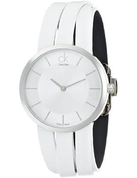 Calvin Klein Damen-Armbanduhr Analog Quarz Leder K2R2M1K6
