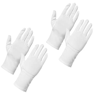 AMOS Dermatological Moisturising Cotton Gloves Dry Skin Hands Eczema Cream Absorption Spa Sleep Beauty Gloves (2 Pairs)