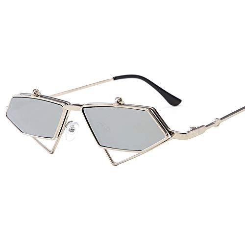 Moda copertura di vibrazione degli occhiali da sole donne degli uomini nuovo irregolari metalliche occhiali da sole occhiali da vista, 5