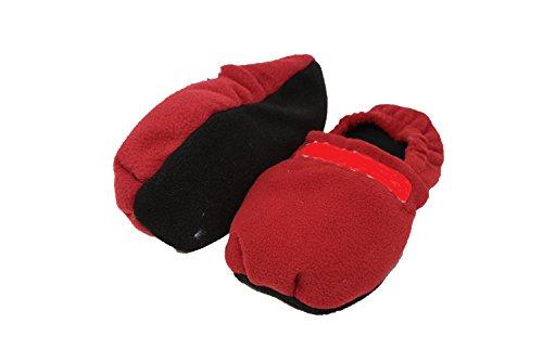 Emanhu Trading Wärmepantoffel Körner-Pantoffeln vers. Farben Hausschuhe (35-38 M, Rot) -