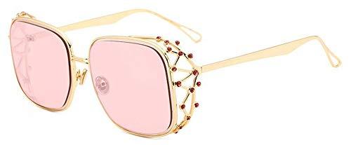 LAMAMAG Sonnenbrille Steampunk Square Sonnenbrillen Frauen Diamant Kristall Sonnenbrille Weibliche Übergroßen Shades Mode Brillen, 6