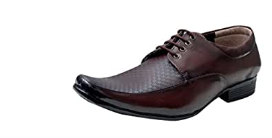 Oora Men's Brown Synthetic Leather Shoes - 6 UK