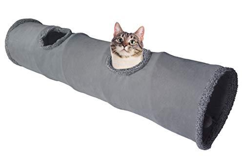 LeerKing Túnel Plegable para Gatos Tubo de Juguete Largo para Mascotas 2 Vías 130 * 30 cm