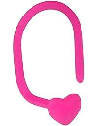 weiche Bioflex Nasenstecker. 0,8mm Spurweite mit 3mm Herz TOP in pink