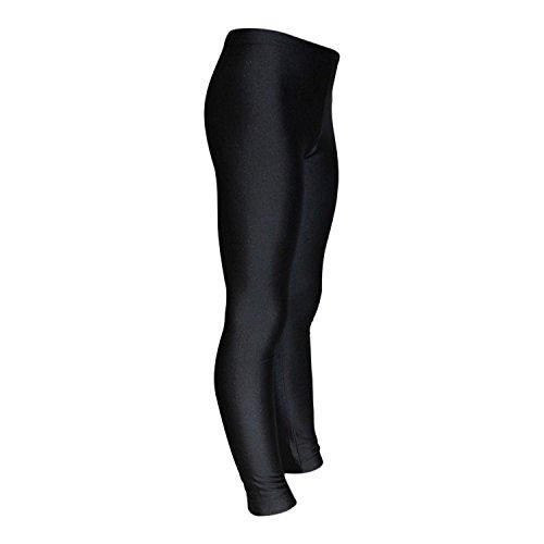 Leggings Mädchen Turnhose Glanz Lycra ML110519 Farbe schwarz, Größe 164