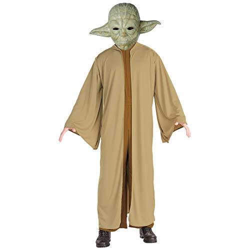 Kostüm Wars Für Star Erwachsene Herren Yoda - NET TOYS Yoda-Kostüm für Erwachsene | Braun-Grün in Größe STD (48 - 52) | Extravagante Herren-Verkleidung Star Wars | Genau richtig für Mottoparty & Kostümfest