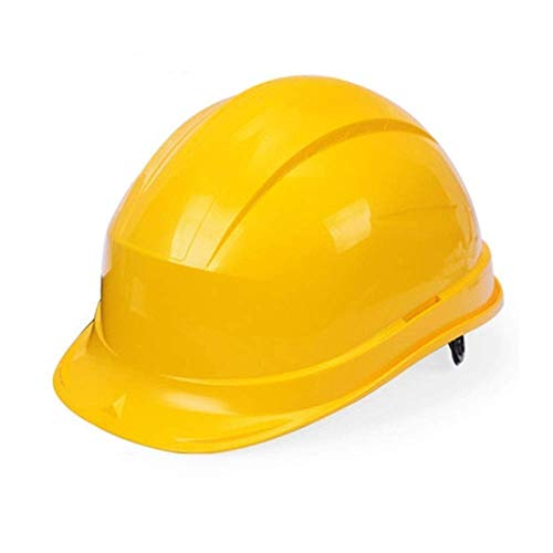 Bauarbeiter Kostüm Weiblich - WYNZYSLBD Schutzhelm-BAU, Erwachsener Arbeits-Unisexsturzhelm, Erwachsener Bauarbeiter-Unisexsturzhelm Mit Belüftung (Color : Yellow)
