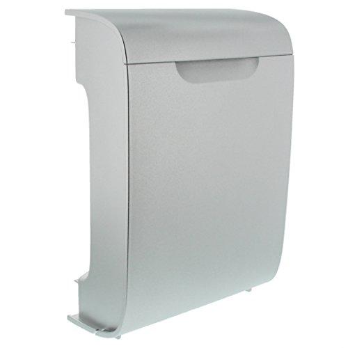 BURG-WÄCHTER Kunststoff-Briefkasten mit Öffnungsstopp, A4 Einwurf-Format, EU Norm EN 13724, Vollkunststoff, Vivo 4922 Si, Silber