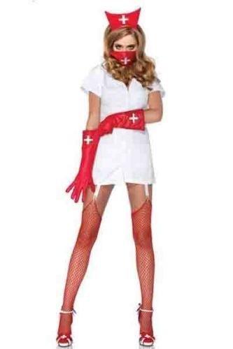 Das Gute Leben 6 Stück Sexy Krankenschwester-Kostüm Maske Handschuhe und Kappe Größe 38 (Krankenschwester Kostüm Handschuhe)