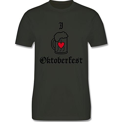Oktoberfest Herren - Oktoberfest Love Bier - Herren Premium T-Shirt Army Grün