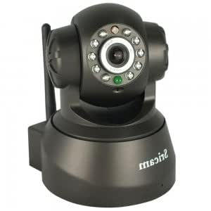 Sricam Wireless Wifi CMOS Pan/Tilt Indoor P2P IP Camera with Motion Detection Black