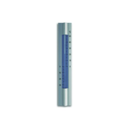 Blooming Weather 12.2045 Thermometer für Innen- und Außenbereich, Aluminium, Metall