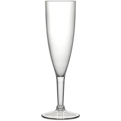 Epic prodotti 8.25-inch acrilico scanalato Champagne Vetro, 6-Ounce, Set di (Scanalato Champagne Vetro)