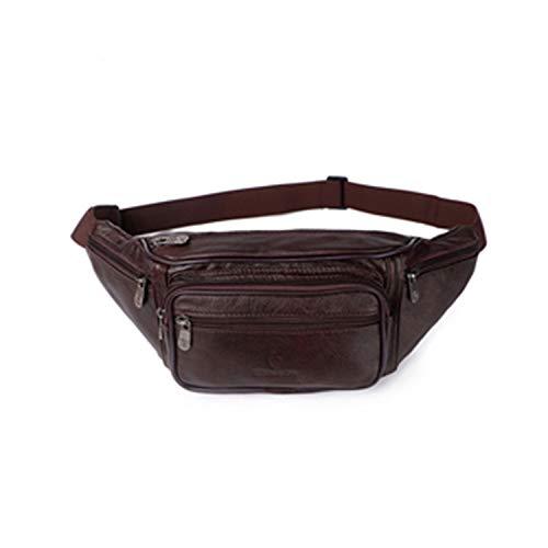 Xuanbao-BB Unisex Belt Bag Casual Outdoor Mens Pockets Zipper Waterproof Canvas Messenger Bag Shoulder Bag Brown Hip Pouch Waist Travel Bag Luggage