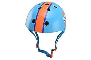 KIDDIMOTO- Gulf Oil/Lemans S Casco para niños, Color Azul/Naranja, S (48-53 cm) (KMH052S)