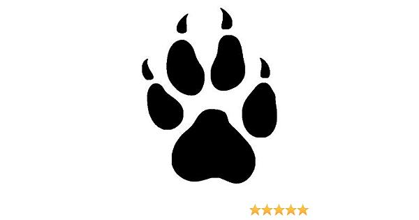 Netspares 119658722 1 X 2 Plott Aufkleber Pfote Kralle Hundepfote Hund Sticker Tuning Autoaufkleber Auto