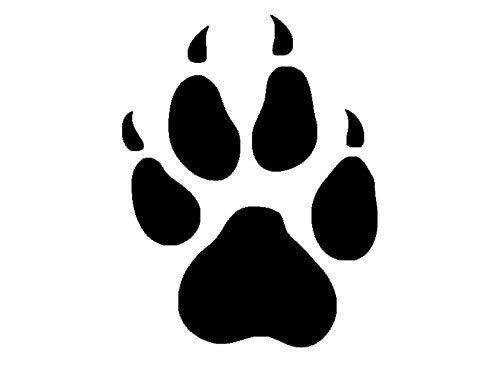 NetSpares 119658722 1 x 2 Plott Aufkleber Pfote Kralle Hundepfote Hund Sticker Tuning Autoaufkleber -