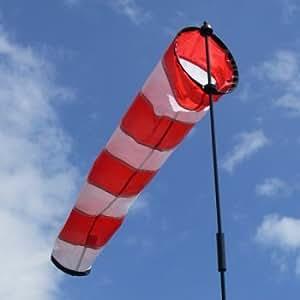 Windsack - AVIA - Sock L - UV-beständig und wetterfest - Ø18cm, Länge: 73cm, Standhöhe: 100cm - inkl. Fiberglasstab