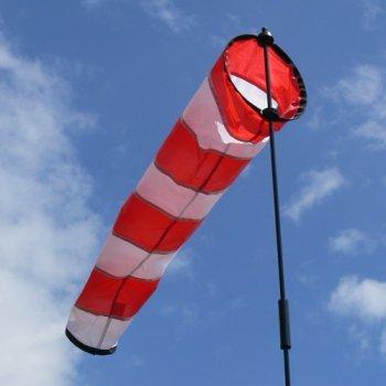 Windsack - AVIA - Sock L - UV-beständig und wetterfest - Ø18cm, Länge: 73cm, Standhöhe: 100cm - inkl. Fiberglasstab Test