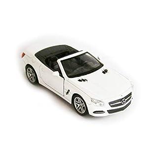 Anik-Shop Mercedes-Benz 2012 SL500 Modellauto Metall 4 Varianten Modell Auto Spielzeugauto Welly 79 (Cabrio Weiss)