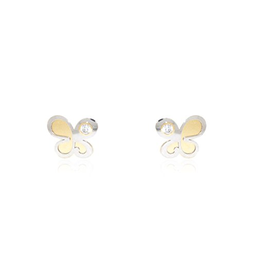 monde-petit-t1857pr-18-k-yellow-and-white-butterfly-gold-baby-earrings