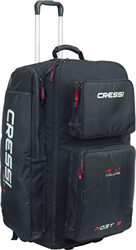 Cressi Moby 5 Bolsa de Buceo, Hombre, Negro/Logo Rojo, Talla Única