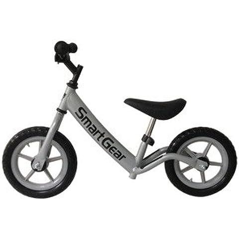 Smart Gear My First Smart Balance Bike Ultra-Lightweight Frame Kids Bike - Metallic Silver 12 Tires by Smart