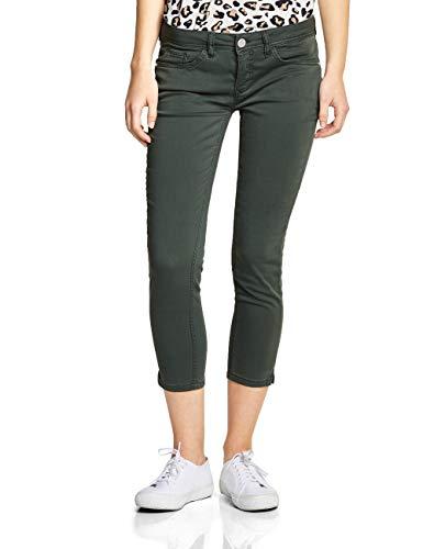 Street One Damen 372121 York Slim Jeans, Grün (Chilled Green) Soft wash, 32W/26L