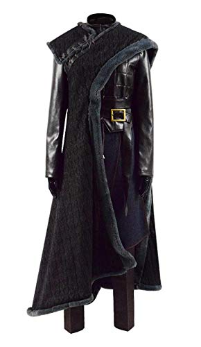 Qian Qian Erwachsene Arya Kostüm Season 8 Ritter Outfit Halloween Cosplay Kostüm (S, Dunkel Braun Vollständiger Satz)