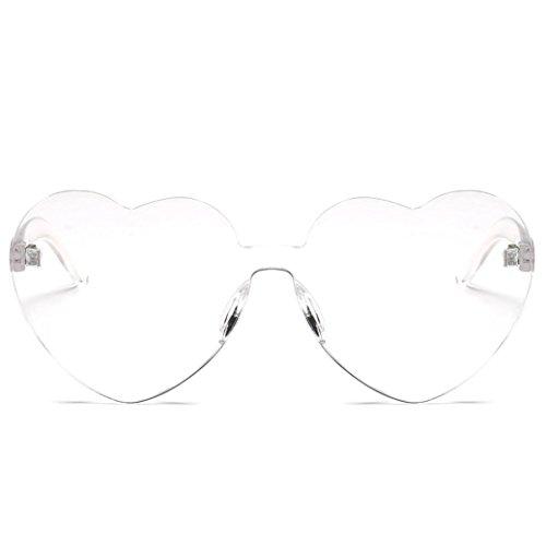 URSING Damenmode Herzförmige Shades Sonnenbrille Integriertes UV Süßigkeiten -
