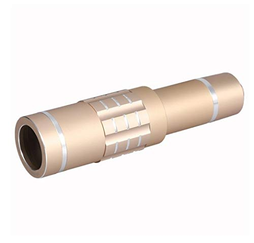 WYJ Handy-Kameraobjektiv-Kit Universelles Objektiv Mit 18Fach Optischem Zoom Und Teleobjektiv Mit Stativ,Gold,Fernrohr