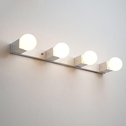J-Q-D Einfache wasserdichte Badezimmer Badezimmer Schlafzimmer E27 LED Spiegel Vorne Lampe/Spiegel Licht/Wand Lampe (größe : 4heads 65cm)