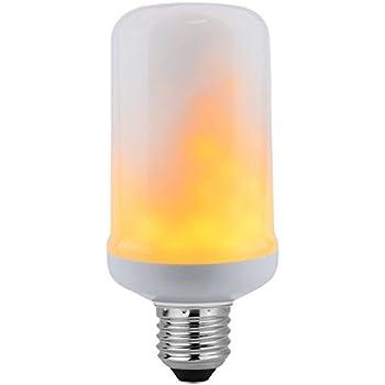 Bombilla LED E27 FIRE, 7,5W, Blanco cálido. Bombilla LED simula llama