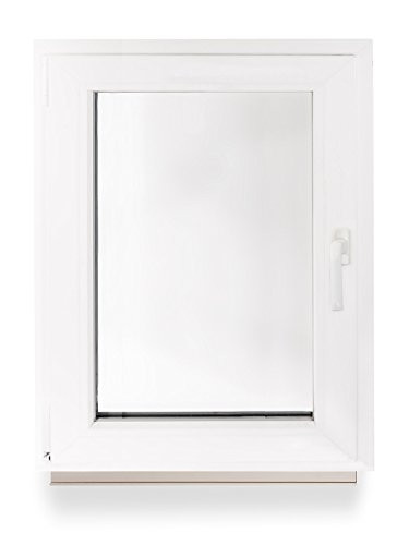 Kellerfenster Kunststoff Fenster Dreh Kipp 60 x 80 cm / 600 x 800 mm Winkhaus Beschlag Isolierglas DIN Links