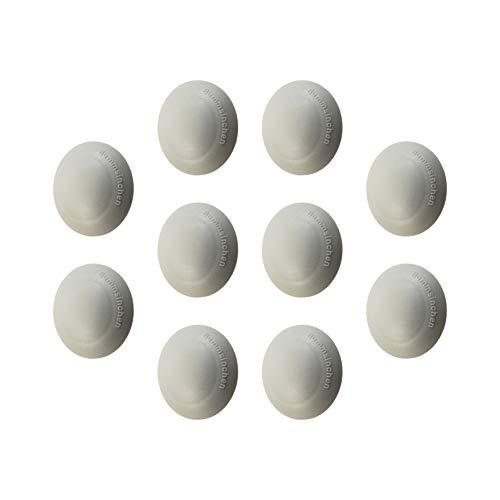 Gedotec Schutz-Kappen Wand-Türpuffer selbstklebend - HS10000 | Türstopper Ø 40 mm | Kunststoff grau | Türdämpfer zum Schutz für die Wand - Möbel - Türgriffen & Türen | 10 Stück - Wandpuffer rund