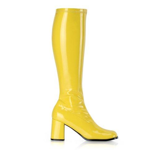 Higher-Heels, chaussures de verni pour homme laque jaune