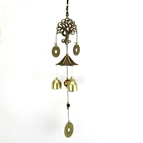 Amaoma Chinesisch Metall Windspiel,Chinesische Stil Metall Glocken Feng Shui Glocke Geldbaum Feng Shui Anhänger