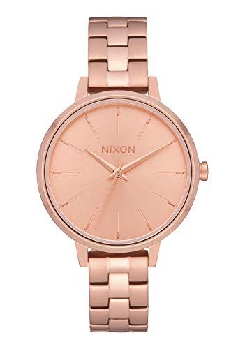 NIXON Reloj Analógico para Mujer de Cuarzo con Correa en Acero Inoxid