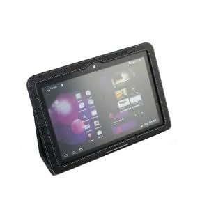 MiTAB Schwarze Executive Echte Premium Leder Flip Trage Tasche/Cover/Case Mit Schreib Ständer Für Das Samsung Galaxy Tab 10.1 Zoll P7510 Und P7500 16GB 32GB 64GB Tablet Gerät WiFi 3G Android