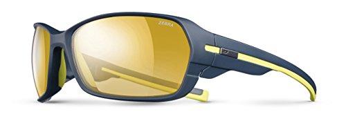 Julbo Dirt 2.0 Zebra Sonnenbrille für Herren, photochrom, Dunkelblau/Gelb