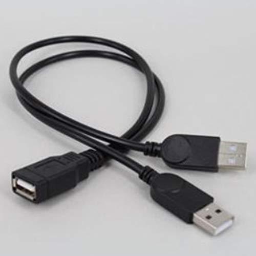 Huhuswwbin cavo micro usb, caricabatterie universale usb 2.0 dati 1 adattatore convertitore maschio femmina a 2 cavi - nero
