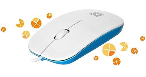 Defender Kabelgebundene optische Maus NetSprinter MM-440 weiß + hellblau, 3 Tasten, 1000 dpi