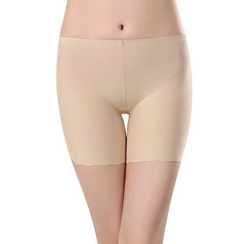 WooCo Sommer Sale Damen Slip Shorts Plus Size Kurze Leggings Mittlere Taille Spitze Heiße Hose Elastische Sporthosen Hosen Unterhosen(Khaki b,XL)