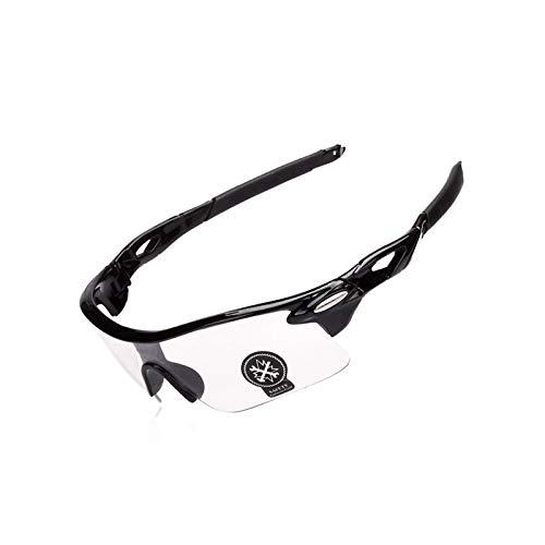 Fahrradbrille Transparent Outdoor Mode Sport Bergsteigen Angeln Winddichte Brille Black Transparent Damen Herren